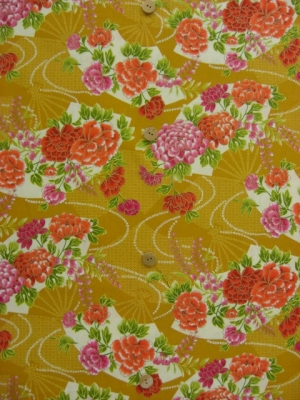 扇に菊と牡丹  (税抜き価格15,000円)my-020