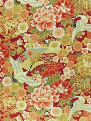金彩加工/鶴に古典花柄(税抜き15,000円)my-250
