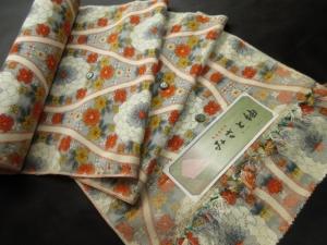 【正絹】民芸真綿紬「みさと紬」 (税抜き価格25,000円)sk-263