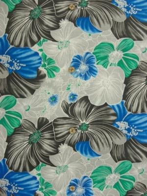 麻100% flower(grey) (税抜き価格15,000円)ay-088