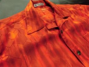 【正絹】膨れ織り高級紋意匠/ぼかし染め ※現品のMサイズ・半袖のみ (税抜き価格30,000円)ge-378