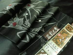 【正絹】本場越後大島「本草木染/菖蒲」 (税抜き価格37,000円)sk-228
