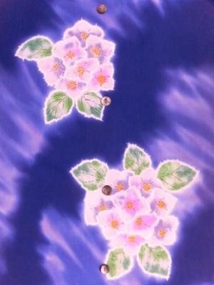 本染め浴衣生地/紫陽花  (税抜き価格15,000円)my-387