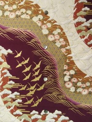 japanese kimono design/purple ※長袖のオーダーは不可 (税抜き価格17,000円)my-473