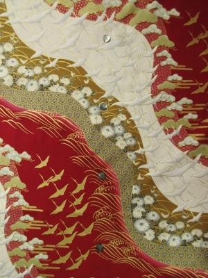 japanese kimono design/deep red ※長袖のオーダーは不可 (税抜き価格17,000円)my-474
