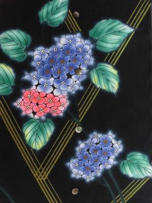 本染め浴衣生地/紫陽花  (税抜き価格15,000円)my-353
