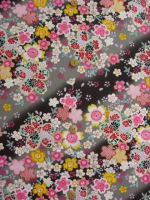 桜の宴/黒 ※3L/4L可 (税抜き価格15,000円)ky-351