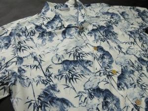 笹に虎 ※現品の2Lサイズ・半袖のみ (税抜き価格15,000円)ge-396