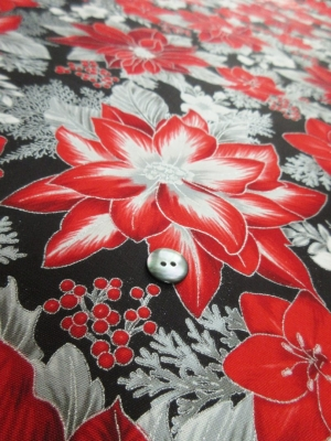 us cotton poinsettia/black(税抜き19,000円)