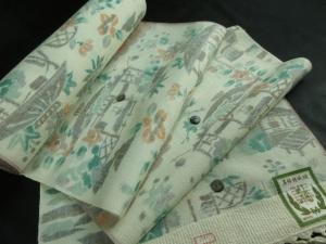 【正絹】真綿結城紬「日本の風景」 (税抜き価格30,000円)sk-273