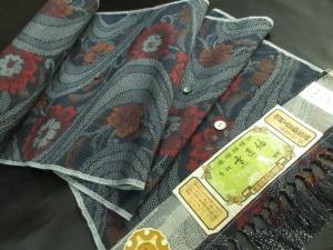 【正絹】越後伝承紬「手紬/雪匠」 (税抜き価格35,000円)sk-277