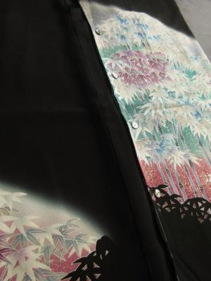 【正絹】京友禅黒留袖創作黒留袖使用「竹林文」(税抜き価格50,000円)sk-282