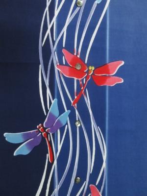 本染め浴衣生地/蜻蛉(税別15,000円)my-489