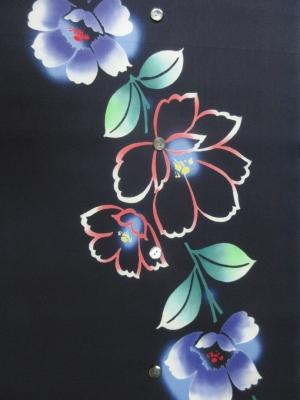 本染め浴衣生地/椿 (税抜き価格15,000円)my-492