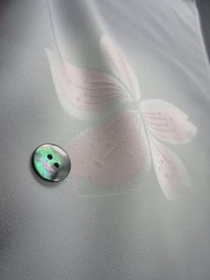 【正絹】羽二重高級長襦袢使用「ぼかし染めに桜文」(税別21,000円)sk-293