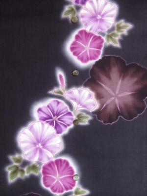 【綿絽】本染め浴衣生地使用/朝顔(税抜き価格15,000円)my-516