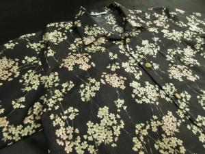 枝桜/黒 ※現品の2Lサイズ・半袖のみ (税抜き価格15,000円)ge-424