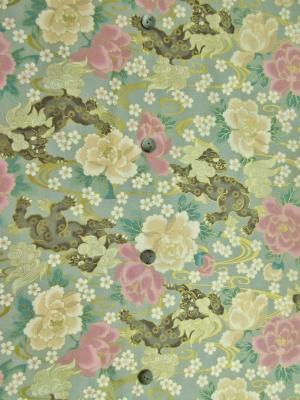 金彩/唐獅子牡丹/ライトグレー(税抜き価格15,000円)my-527