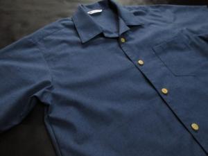 久留米絣使用「紬織り/紺」※現品のLサイズ・半袖のみ(税別18,000円)ge-425