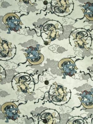 雲に風神雷神柄(税抜き価格15,000円)my-533